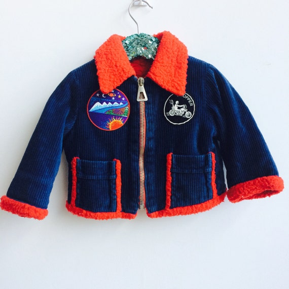 RIDE 2-3 Years Baby Kids Jacket with Patches Unisex