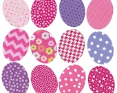 Easter eggs iron on appliques DIY