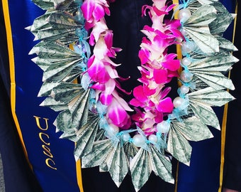 Money leis|graduation| Leis| flower lei