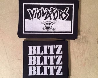 Blitz or The Violators punk canvas patch