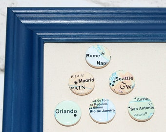 Custom City Magnets, Set of 6