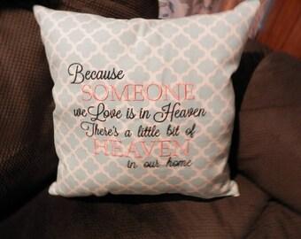 pillow,pillows,throw,pillow,embroidered pillow,14x14 pillow,gift pillow,sympathy pillow