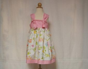 Pink flower dress,summer dress,sundress,toddler dress,infant dress,sundress