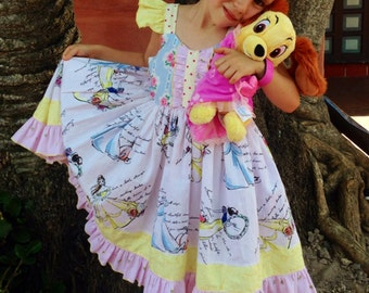 Fashionable Princess Dress, Girls Children, Disney Princess Dress, Happily Ever After Birthday Party Dress, Disney, Couture Theme Dress