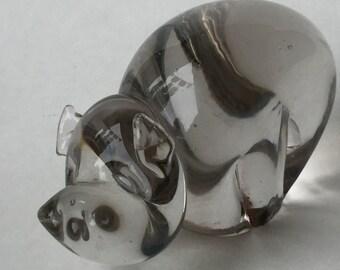 Handblown Glass Pig Figurine