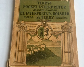 "Vintage Paperback, ""Terry's Pocket Interpreter: Spanish-English,"" 1917"