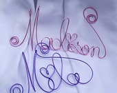 Baby Nursery Decor Personalized Name Sign, Scripted Wire Letters