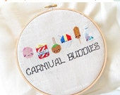 HALF OFF STOCK Up Sale Kawaii Carnival Foods Cross Stitch Pattern - instant Download Pdf