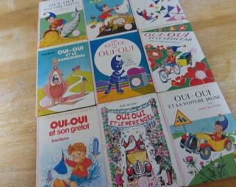 9 Noddy, Oui Oui Vintage French Children's Books, Hardbacks, Enid Blyton 1960's