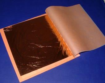 PURE COPPER leaf 25 sheet booklet 14cm x 14cm