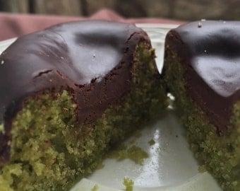 Vegan Gluten free  Matcha  Green Tea Dark Chocolate  donuts 6pcs