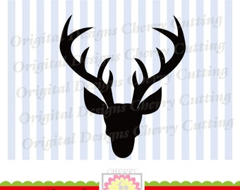 Christmas Deer SVG eps jpg png, Deer Silhouette, Christmas Silhouette Cut Files, Cricut Cut Files CHSVG09 -Personal and Commercial Use