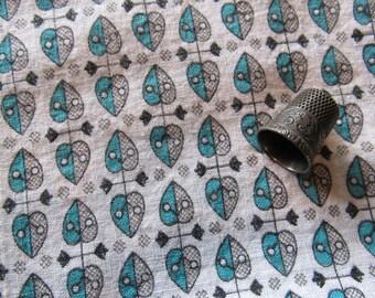vintage feed sack -- geometric print fabric/towel