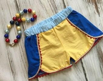 Snow White Birthday Shorts - Snow White Inspired Shorts - Coachella Shorts - Princess Outfit - Princess Shorts - Snow White Outfit