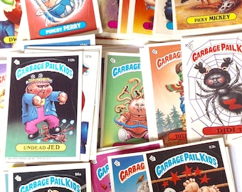 Vintage lot of Garbage Pail Kids stickers cards 80s