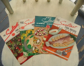 1940s Recipe Pamphlets - The Sealtest Food Adviser - Lot Of 4