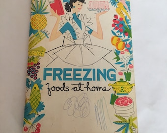 Vintage Book, Freezing Foods at Home, Vintage Cook Book, Vintage Home Economics