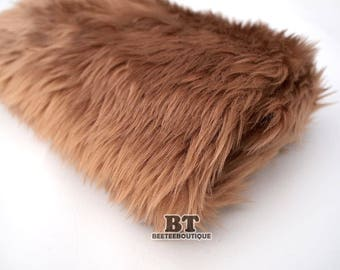 BROWN - Newborn Faux Fur Stuffer, Newborn Prop, Newborn Faux Fur Posing Fur, Posing Prop, Newborn Photo Prop, Neutrals