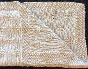 Small diamond Blanket Knitting Pattern, PDF, Instant Download