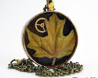 Steampunk Leaf Necklace