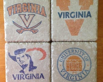 University of Virginia Sports Team Coasters Set of 4