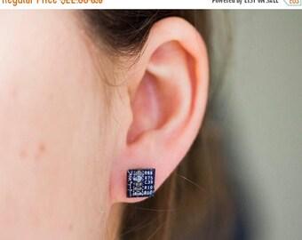 Geeky stud earrings - Circuit board studs - recycled computer - hypoallergenic