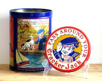 Cracker Jack Tin 1992 Collectible Third in Series Baseball The More You Eat the More You Want
