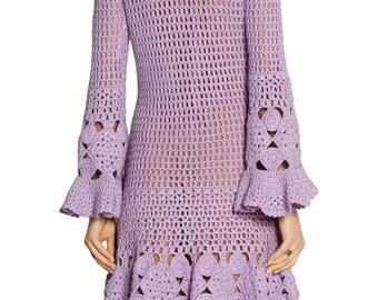 CROCHET FASHION TRENDS Crochet Dress  custom made, hand made, crochet -  cotton