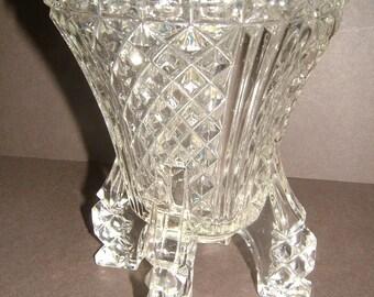 1930s 1930s Rocket Vase Art Deco Spaceship 6 Inch Vintage Pressed Glass Flower Vase Vintage Home Decor Vintage Housewares Vintage Glass Vase