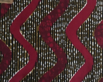 African Guaranteed Wax Wave Print Fabric