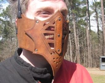 Leather armor half mask
