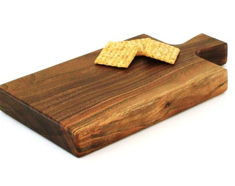 "Wine and Cheese Board - Walnut - Ready to Ship - 11""x6""x1-1/4"""