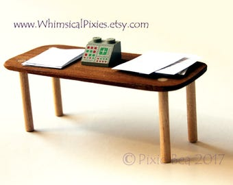 Flipping Table, Mini wooden table for stress relief, geek stress toy, office gift, table flip, anger management