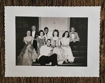 Original Vintage Photograph A Company of Friends