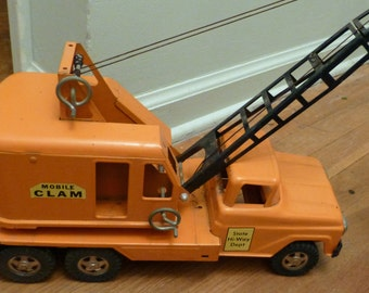 Early 1960's Tonka Mobile Clam State Hi-Way Dept truck ON SALE!