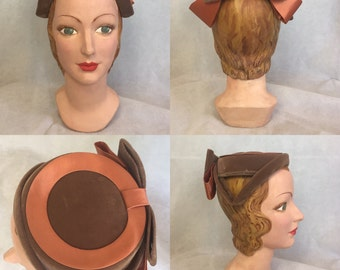 Adorable early 50s pillbox hat fascinator