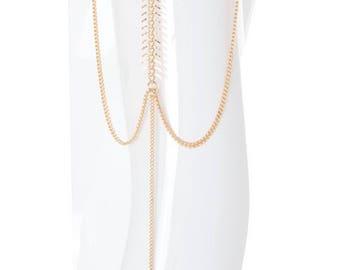 Upper Arm Cuff armcuff, prom dress jewelry, funky Upper Arm Bracelet, Gold Armlet, Boho Body Jewelry, Gold Arm Cuff - By PiYOYO