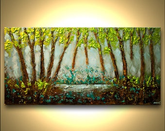 Canvas Print - Stretched, Embellished & Ready-to-Hang  - Heaven - Art by Osnat