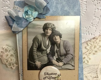 Thinking of You ~~ Sisters or Best Friends Card~~~ Friendship~~~