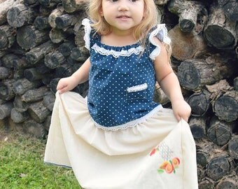 Boho Dress | Peasant Dress | Size 4 Babygirl | Ellie Ann and Lucy