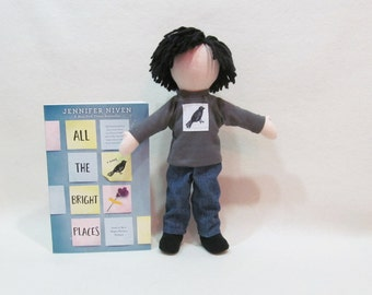 Finch doll from All the Bright Places by Jennifer Niven, Eco-friendly hemp doll, unique cloth doll