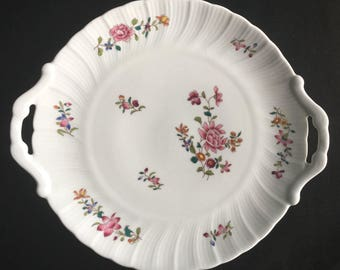 Bernardaud Limoges France Lowerstoft/Lowestoft Two-Handled Cake Plate Excellent Condition
