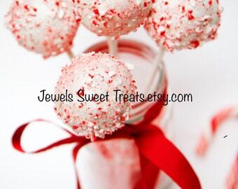 12-Christmas Gourmet Cake Balls Or Cake Pops