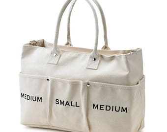New Canvas Messenger and Tote Bag(Ivory)
