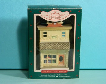 Old Fashioned Toy Shop, Hallmark Christmas Ornament, 1985, Original Box, Collector's Series