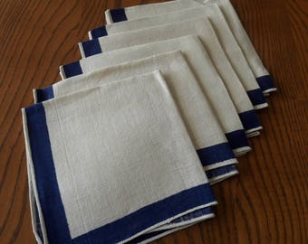 VINTAGE LINEN NAPKINS Set of 6