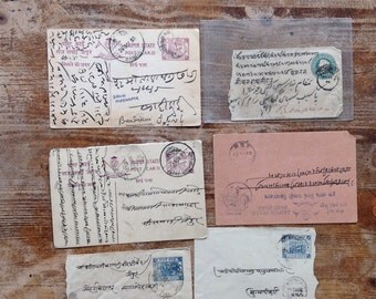 Antique hindi hindu Jaipur India letters postcards 1800s early 1900s antique writings