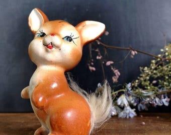 SALE Vintage Danish 1950s Rabbit Figurine