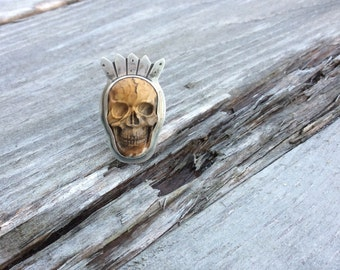 Jasper Skull King ring