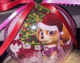 Paw patrol christmas ornament